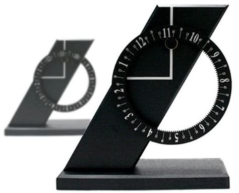 spatially telling time modern architecture inspired clock clock hands stay put numbers move instead technabob