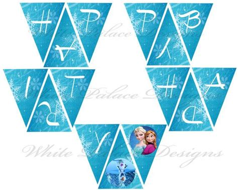 free printable olaf birthday banner 8 best images of printable frozen banner happy birthday