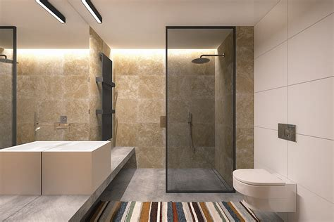 bathroom shower materials 56 sqm small apartment interior design with luxury modern decor style home