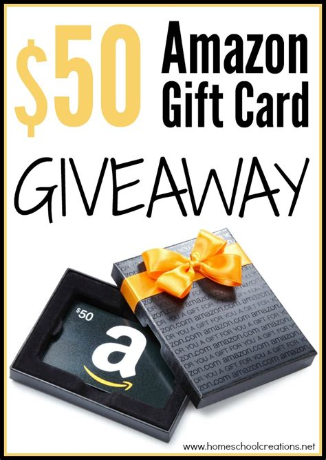 Giveaway Gift Card - 50 amazon gift card back to school giveaway