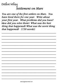 worksheets on creative writing for grade 3 platinum