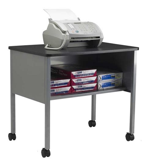 Rolling Printer Stand To Increase Productivity Office Furniture Printer Stand