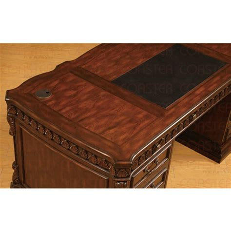 Solid Wood Executive Desks by Union Hill Pedestal Executive Desk With Leather
