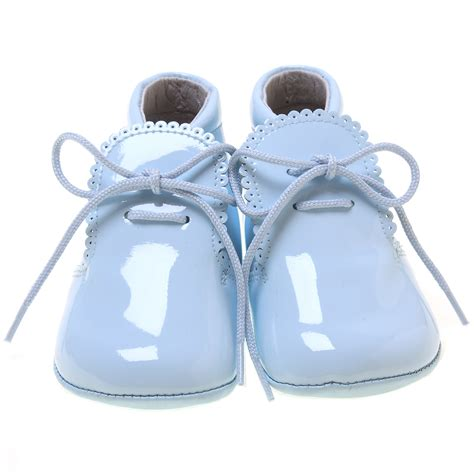 baby blue shoes beautiful baby boys baby blue patent shoes scallop edge