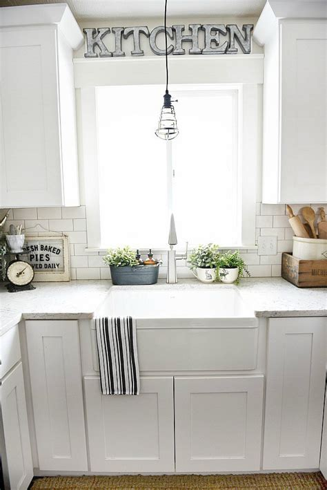 kitchen counter decor home pinterest how to give any house farmhouse style liz marie blog