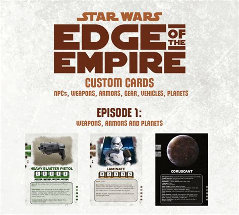Wars Ffg Npc Card Template by The Dearth Presents Community Project To Create Custom