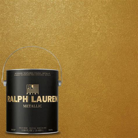 ralph 1 gal gold metallic specialty finish interior paint me138 at the home depot
