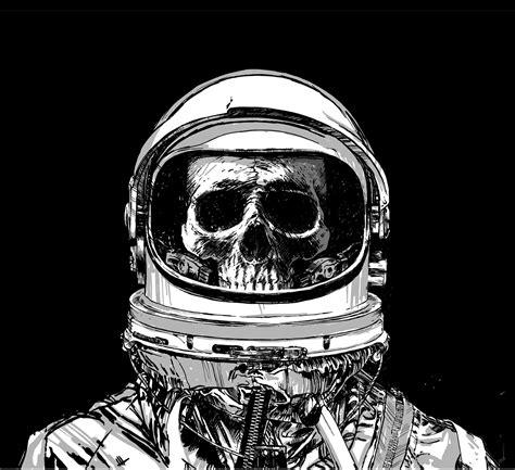 Skull Space alisdair wood illustration space skull