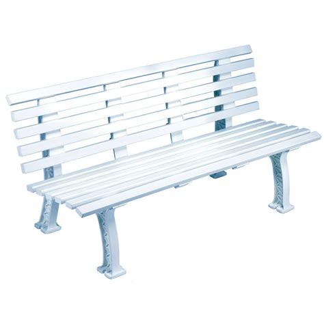 court bench tourna tennis court bench 5 feet white