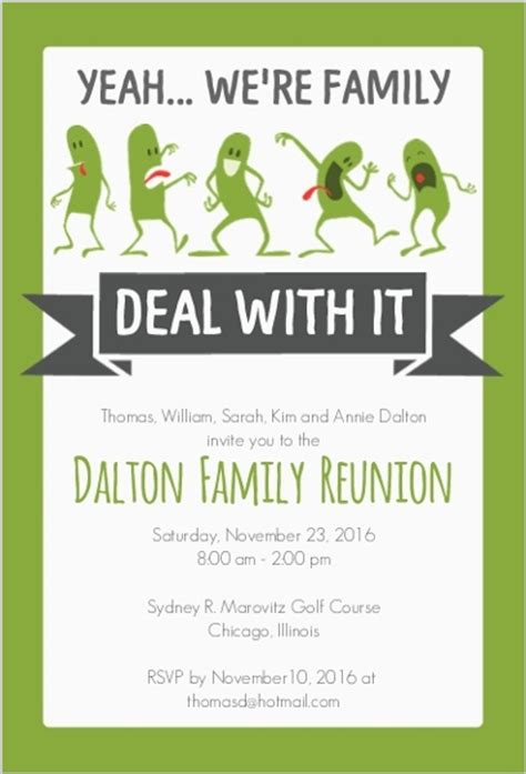 Funny Family Reunion Invitation Reunion Invitations Reunion Invitation Template