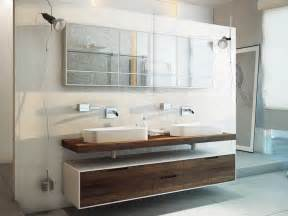 Attrayant Salle De Bain Sol Noir #3: meuble-salle-bain-bois-montage-mural-grandes-vasques-poser.jpg