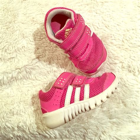 adidas shoes baby toddler pink velcro sneakers 4 poshmark