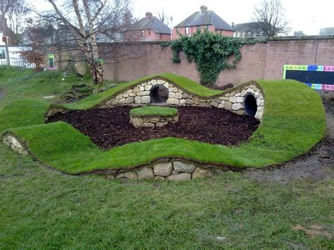 natural playground ideas backyard natural play structures hobbit holes maybe tunnels under