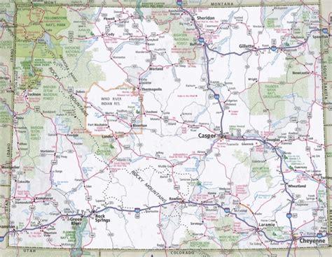 Wyoming Maxy wyoming road map