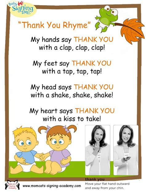 Thank You Letter To Pre K happy thanksgiving thank you for signing with us signing story time happy