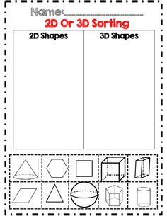 3d shape sorting worksheet 1000 images about 2nd 3rd grade math geometry on 3d shapes 2d and 3d shapes and
