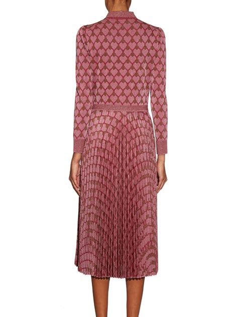 Premium Collar Dress By Three Floordress Casual Branded Import gucci geometric stretch jersey dress in pink lyst