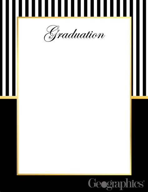 templates gray border graduation name graduation letterhead gold foil 8 5 quot x11 quot 49659