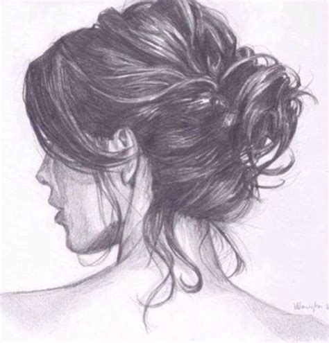 bun hairstyles drawing messy bun drawing pinterest stains buns and lol