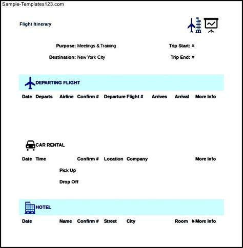 airline itinerary template image gallery flight itinerary