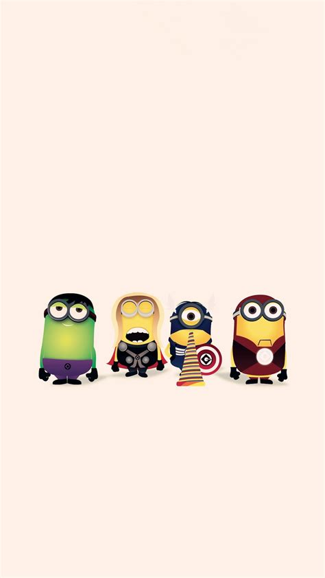 wallpaper for apple cartoons hd cartoon avengers minion apple iphone 6 plus wallpaper