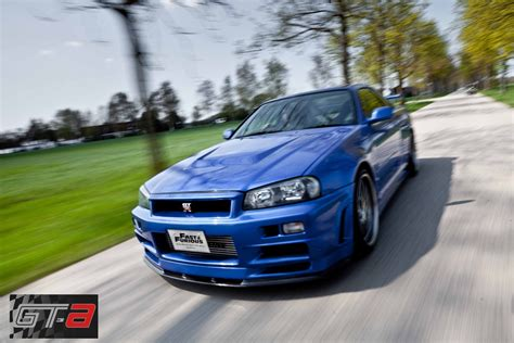 nissan r34 paul walker paul walker s nissan skyline gtr from fast furious iv