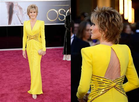 jane fonda yellow dress jane fonda yellow dress glamour overload at the oscars red
