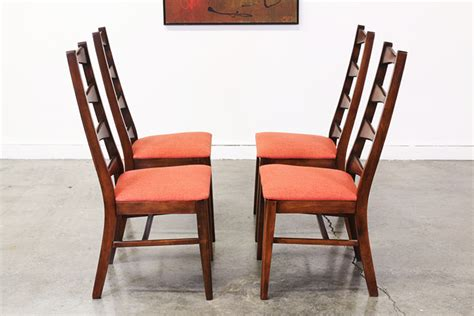 mid century modern bow tie high back dining chairs