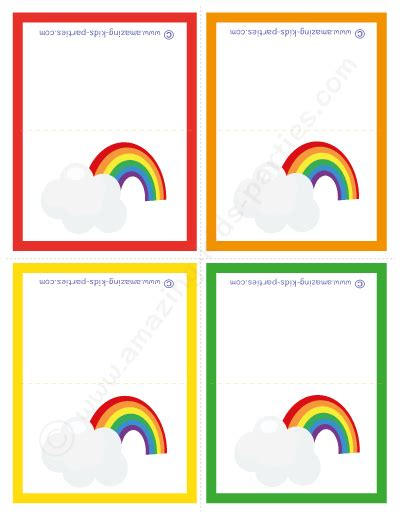 Rainbow Gift Cards - rainbow party invitations cards