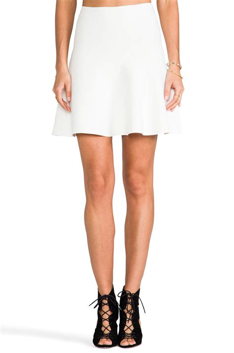 bcbgmaxazria fit  flare skirt  white lyst