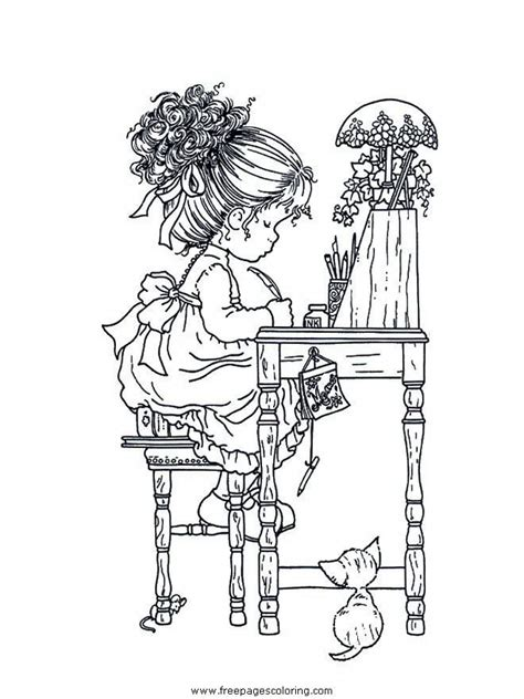 holly hobbie original coloring pages coloring home