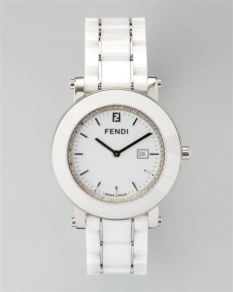 Gucci Ceramik Roundwhite T1310 3 fendi ceramic stainless steel in white lyst