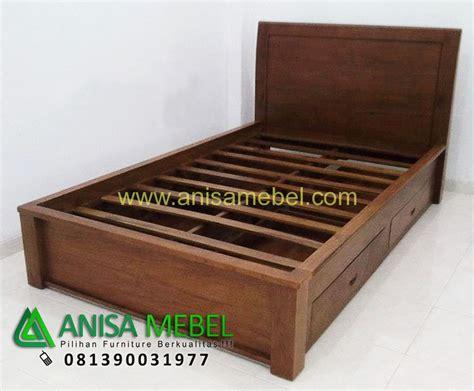 Mup Jepara Tempat Kunci Kayu tempat tidur minimalis 4 laci kayu jati anisa mebel jepara