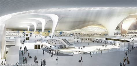 Stansted Airport Floor Plan by Beijing Unveils Plans For The Biggest Airport Terminal In The World Daily Mail Online