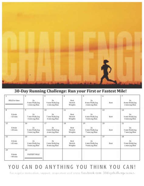 To 5k In 30 Days by 30 Day Running Challenge Run Your Or Fastest Mile Active