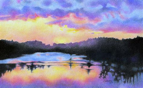sunset colored pencil portfolio carolyn a pappas