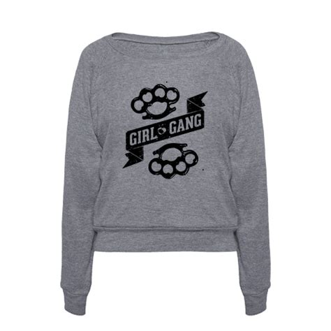 pattern gang clothes human girl gang clothing pullover