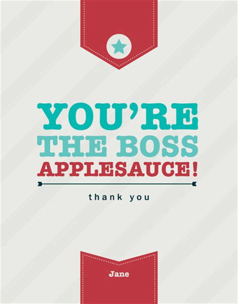 Thank You For Gift Card From Boss - thank you cards you re the boss at minted com
