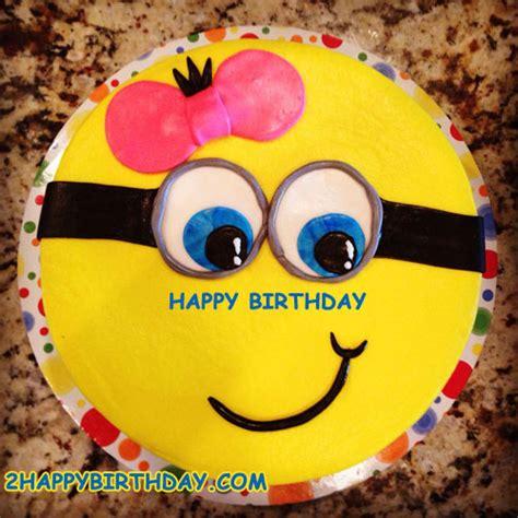 Minions Birthday Cake Image With Name Edit   2HappyBirthday