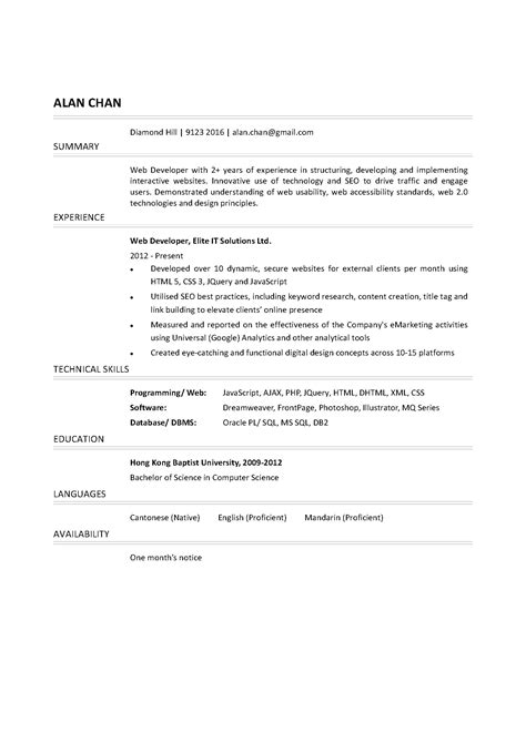 Sample Resume For Executive Assistant To Senior Executive