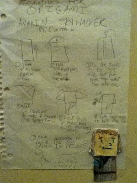How To Make Origami Anakin Skywalker - superfolder dante s for anakin skywalker