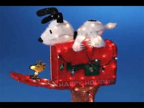 snoopy mailbox peanuts christmas decoration youtube