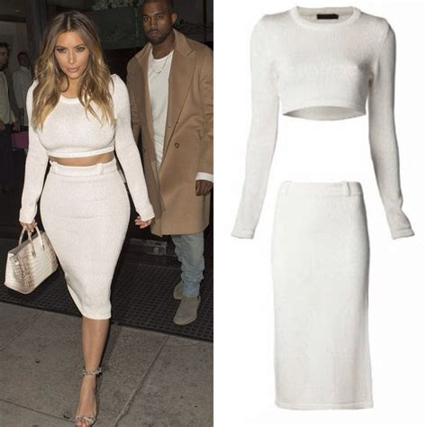 2 crop top midi knit skirt set white
