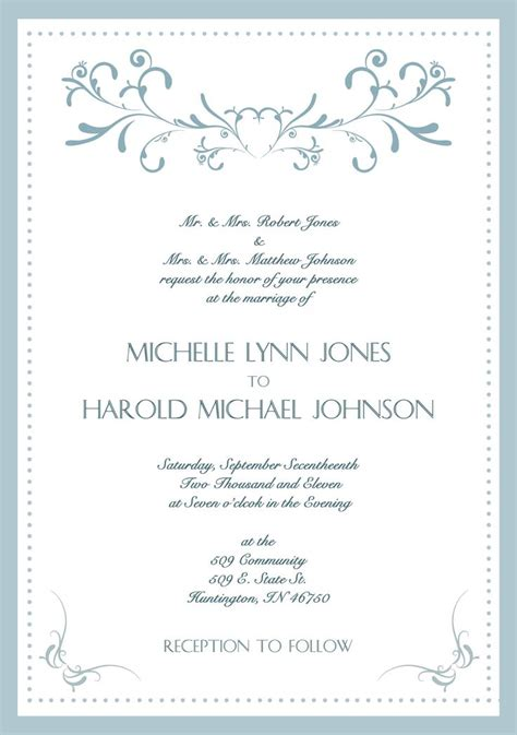 sample wedding invitation cards english sample