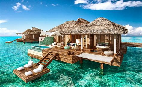overwater bungalows bali indonesia sandals royal caribbean resort montego bay jamaica