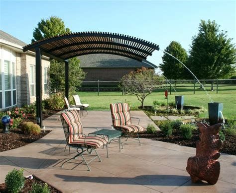 steel shade pergolas provide a shade covering for your