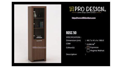 Lemari Pakaian 3 Pintu Expo Lp 2103 Walnut pajangan kaca rosc 50 roma pro design