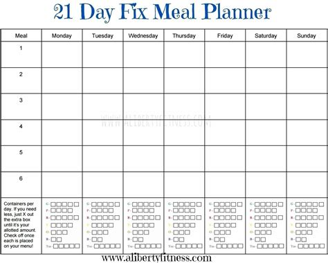 printable meal plan for 21 day fix 21 day fix meal plan template larissanaestrada com