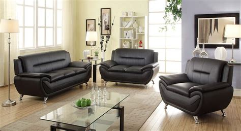 black leather living room set peenmedia