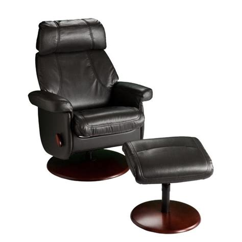Glider Recliner Ottoman Southern Enterprises Swivel Glider Recliner With Ottoman In Black Up5906rc